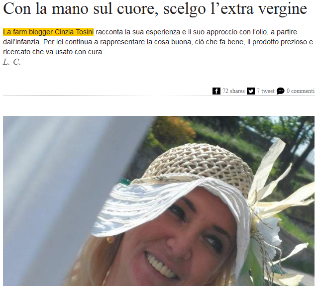Intervista su Olio Officina Magazine
