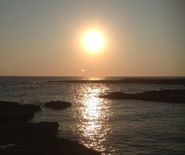 Il sorgere del sole a Torre Santa Sabina