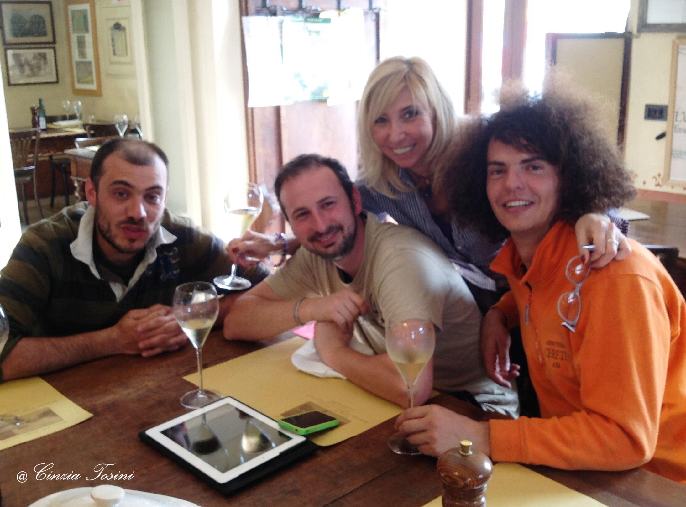 Daniele, Gigi e Alessandro dell'Azienda Agricola Corte Fusia
