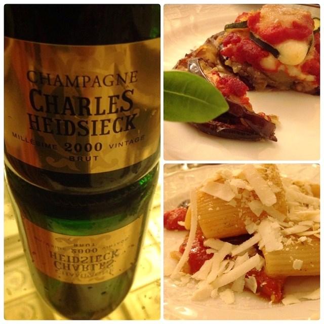 Si beve Champagne Charles Heidsieck Millésime 2000 Vintage Brut e... si mangia piatti mediterranei