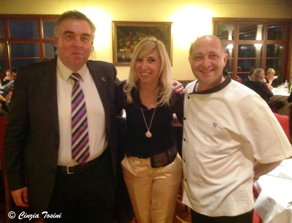 Claudio Riva e lo chef Corrado Radice
