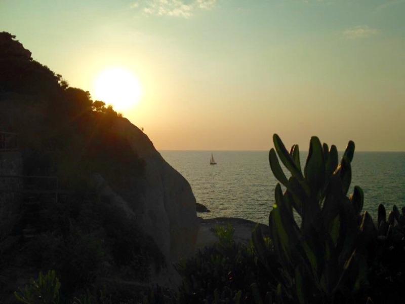 Tramonto sull'isola di Ponza